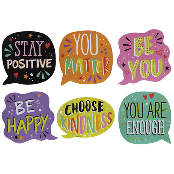 Positive Speech Balloon Cutouts