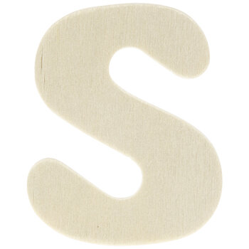 """Wood Letters S - 1 3/4"""""""