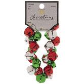 Red & Green Jingle Bells Bracelet