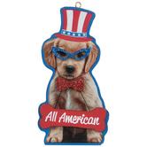 All American Dog Ornament