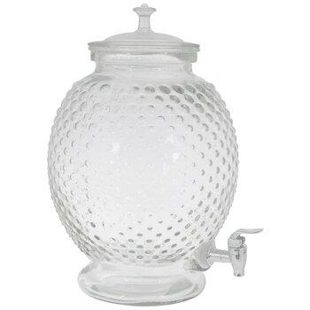 Hobnail Glass Beverage Dispenser