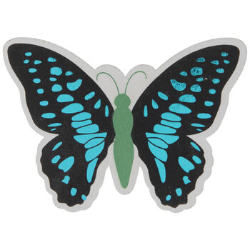 Foil Butterfly Painted Wood Shape