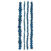Blue Dyed Bone Bead Strands