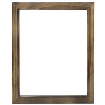 Flat Burned Wood Open Frame