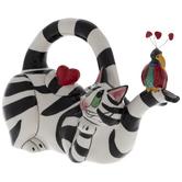 Black & White Striped Cat Teapot