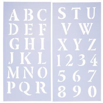 Uppercase Roman Alphabet Stencils