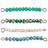 Turquoise Bead Connectors