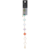 Multi-Color Glass Quatrefoil Bracelet