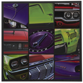 Chrysler Plymouth Collage Wood Wall Decor
