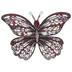 Pink Butterfly Rhinestone Brooch