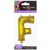Gold Foil Letter Balloon - F