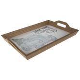 Good Tidings Of Comfort & Joy Wood Tray