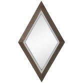 Diamond Wood Wall Mirror