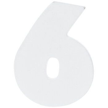"""White Wood Numbers 6 - 2"""""""