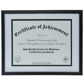 "Black Document Wood Wall Frame - 11"" x 8 1/2"""