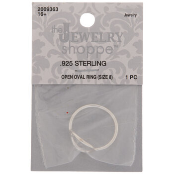 Sterling Silver Open Oval Ring - Size 8