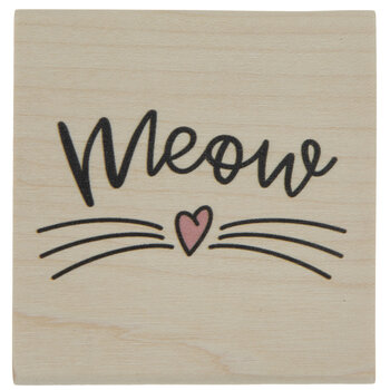 Meow Whiskers Rubber Stamp