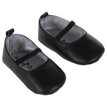 Black Dressy Crib Shoes - 6-9 Months