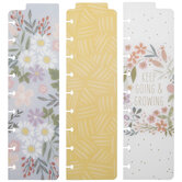 Bright Floral Happy Planner Bookmarks