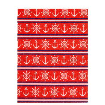 Red, White & Blue Nautical Felt Sheet