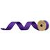 Purple Swiss Dot Wired Edge Grosgrain Ribbon - 1 1/2