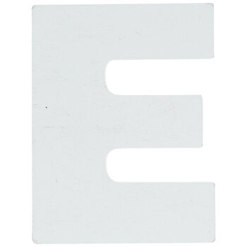 "White Wood Letters E - 2"""