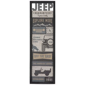 Jeep Collage Wood Wall Decor