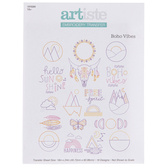 Boho Vibes Embroidery Transfer Sheet
