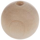"""Round Wood Beads - 3/4"""""""