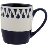 Blue & White Teardrop Mug