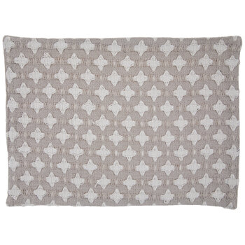 Gray & White Diamond Woven Placemat