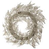 Gold Glitter Fern Wreath