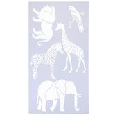 Safari Animals Stencil