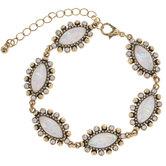 White Oval Rhinestone Bracelet