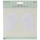 White Angel Wings Iron-On Applique
