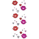 Lips Rhinestone Stickers