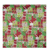 Red, Green & White Presents Gift Wrap