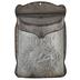 Silver Post Bird Metal Mail Box