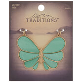 Turquoise Shell Butterfly Pendant