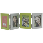 "Green & Silver Metal Collage Frame - 2"" x 3"""