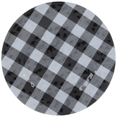 Black & White Buffalo Check Plate
