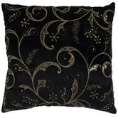 Black & Gold Swirl Sequin Pillow