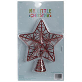 Red Glitter Star Mini Tree Topper