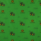 Green John Deere Cotton Calico Fabric