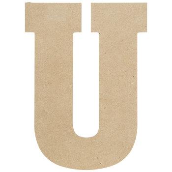 """Wood Letter U - 13"""""""