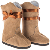 Brown Country Chic Doll Boots