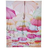Multi-Color Umbrellas Canvas Wall Decor