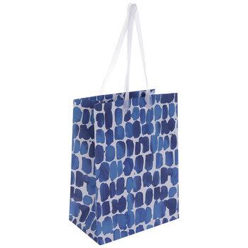 Blue Watercolor Dots Gift Bag - Small