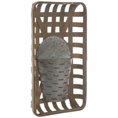 Basket Backed Slotted Metal Wall Container