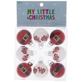 Mini Santa Round Ornaments